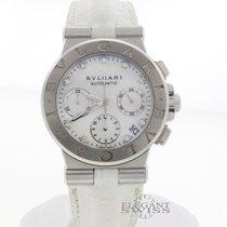 Bulgari Diagono Diamond MOP Dial Automatic Chronograph Watch...