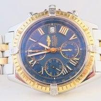 Breitling Crosswind Chronograph 18k Gold Steel