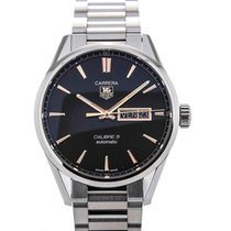 TAG Heuer Carrera Day-Date Automatic 41 Black Dial Red Gold...
