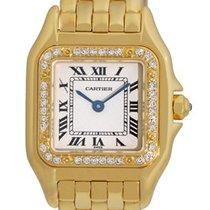 Cartier Panthere Quartz Yellow Gold with Diamond Bezel Small