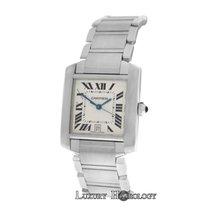 Cartier Authentic Unisex Tank Francaise 2302 Steel Automatic Date