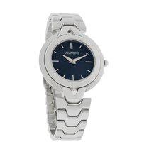 Valentino Ladies Black Dial V-Link Bracelet Swiss Quartz Watch...