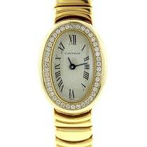 Cartier Ladies Cartier Mini Baignoire W/ Diamond Bezel In 18k...