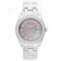 Rolex Masterpiece/Pearlmaster Men's Platinum Watch 18946