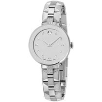 Movado Women's Swiss Sapphire Diamond Stainless Steel...