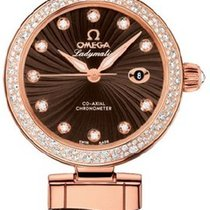 Omega [NEW] De Ville Ladymatic Co-Axial Red Gold 34mm