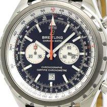 Breitling Polished Breitling Chronomatic Steel Leather...