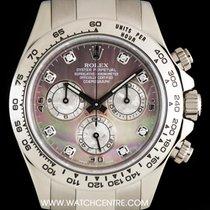 Rolex 18k White Gold O/P MOP Diamond Dial Daytona B&P 116509