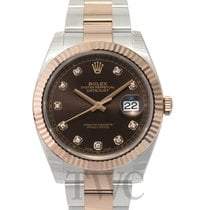 Rolex Datejust 41 Chocolate/Rose gold G 41mm - 126331