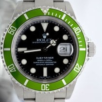 Rolex 16610LV Submariner 50th Anniversary Green F Serial 2004...