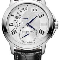 Raymond Weil Tradition Retrograde Steel Mens Watch Day-of-Week...