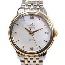 Omega De Ville Gold And Steel White Automatic 424.20.33.20.05.001