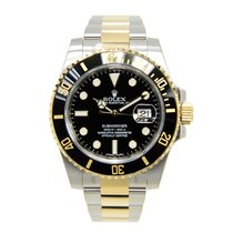 Rolex Submariner(date) Gold And Steel Black Automatic 116613LN