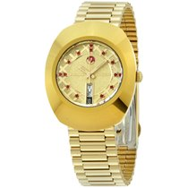 Rado Original Gold Tone Dial Gold Tone Stainless Steel Ladies...