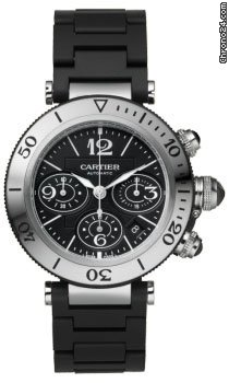 Cartier PASHA SEATIMER CHRONOGRAPH AUTOMATIC STAINLESS &amp;amp; RUBBER