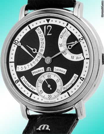 Maurice Lacroix Masterpiece Retrograde Calendar Strapwatch