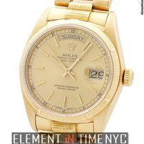 Rolex Day-Date 18k Yellow Gold Bark Champagne 1978 36mm Ref....