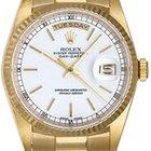 Rolex President Day-Date Men's Watch 18238 White Dial