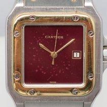 Cartier Automatique Santos Galbee Gold Steel AC23.80 Patina...