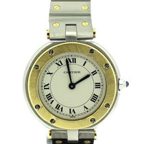 Cartier Santos Ronde Quartz 18ct Yellow Gold and Steel Watch 4461
