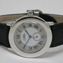 """Cartier """"Must de Cartier Ronde"""" Silber rhodium 33mm. case"""