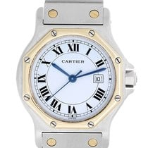 Cartier Santos Octagon 2 Tone Steel & Gold Midsize 30mm...