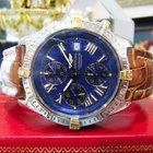 Breitling Windrider Crosswind 18k Gold Ss Watch B13355...