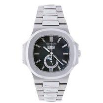 Patek Philippe Nautilus Mens Stainless Steel Watch 5726 Black...