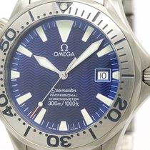 Omega Polished Omega Seamaster Professional 300m Titanium Mens...