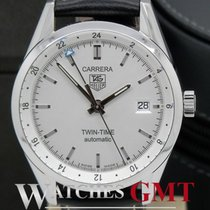 TAG Heuer Carrera Twin Time Automatic White Dial