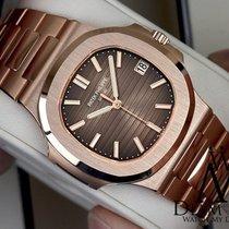 Patek Philippe Nautilus 18k Solid Rose Gold Automatic Mens Watch
