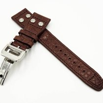 IWC New 22/18mm IWC Crocodile Leather Strap Replacement Band