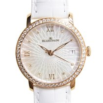 Blancpain Women 18 K Rose Gold With Diamonds White Automatic...