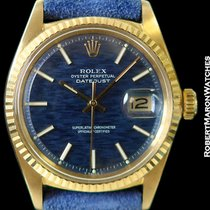 Rolex Datejust 1601 18k Blue Bricks In The Wall Dial