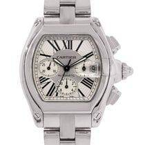 Cartier Roadster XL 2618 Silver Chronograph Dial Watch