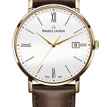Maurice Lacroix Eliros Date White Dial, Gold Plated Case,...