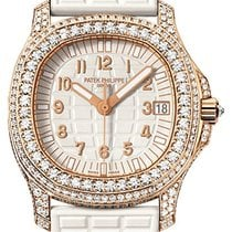 Patek Philippe 5069R-001 Aquanaut Ladies 35.2mm Embossed White...