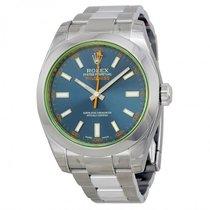 Rolex Milgauss Blue Dial Stainless Steel Men's Watch 116400GV