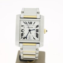 Cartier Tank Francaise Steel/Gold (B&P2005) 28mm