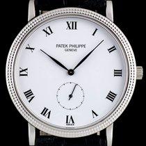 Patek Philippe 18k White Gold White Enamel Roman Dial Calatrav...