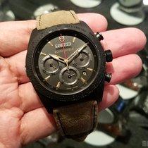 帝陀 (Tudor) 42000CN Leather Strap (888) Fastrider Black Shield...