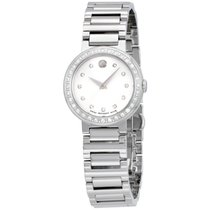 Movado Concerto Silver Dial Stainless Steel Ladies Watch 0606793