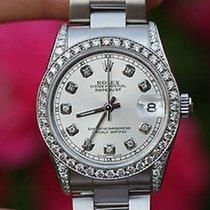 Rolex Mens Ladies 31mm Midsize Datejust 78240 Steel Diamond...