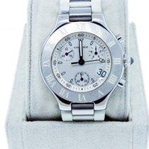 Cartier Chronoscaph 21 2424 Steel /  Rubber Watch