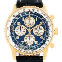 Breitling Navitimer Airborne 18k Yellow Gold Blue Dial Watch...