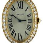Cartier Baignoire 18k Yellow Gold Diamond Watch