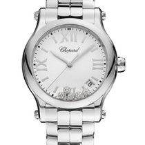 Chopard Happy Sport 36mm Quartz  Stainless Steel  With Diamonds T