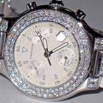 Cartier Must 21 Chronoscaph Chronograph Diamonds