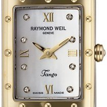 Raymond Weil Tango Diamond Accented 18k Gold-plated And...