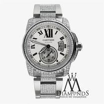 Cartier Mens Cartier Calibre Silver Opaline Automatic Watch...